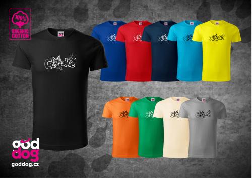 """Pánské triko s potiskem dlouhosrsté kolie """"Collie Star"""", org.bavlna"""