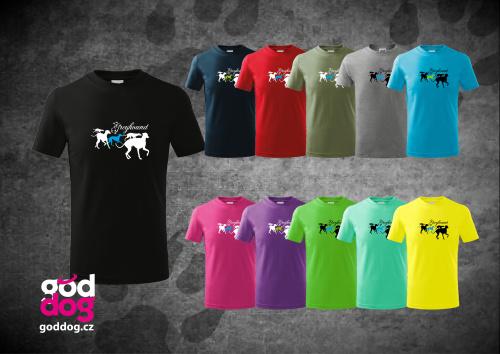 """Dětské triko s potiskem greyhounda """"Group"""", kr.rukáv"""
