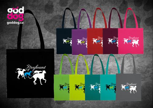 """Nákupní plátěná taška s potiskem greyhounda """"Group"""""""
