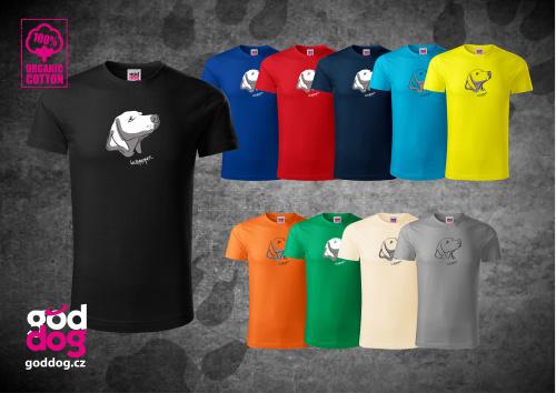 """Pánské triko s potiskem výmarského ohaře """"Weim Head"""", org.bavlna"""