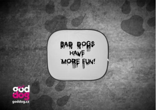 """Autostínítko s potiskem psa """"Bad Dogs"""""""
