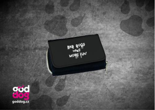 """Dámská peněženka s potiskem psa """"Bad Dogs"""", džinová"""