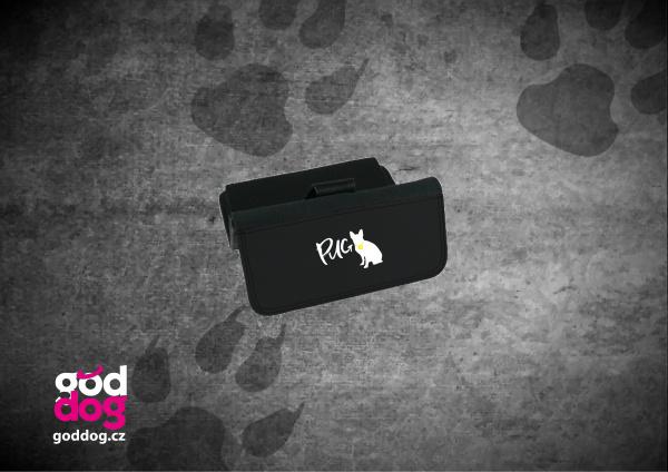 """Dámská peněženka s potiskem mopse """"Pug"""", velká"""