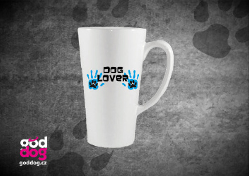 """Latté s potiskem psa """"Dog Lover"""""""
