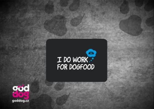 """Podložka pod myš s potiskem psa """"Dogfood"""""""