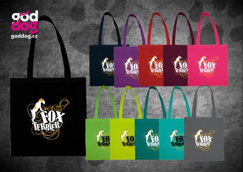 """Nákupní plátěná taška s potiskem foxteriéra """"Foxterrier"""""""