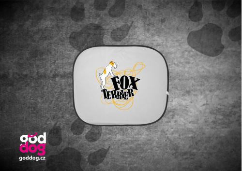 """Autostínítko s potiskem foxteriéra """"Foxterrier"""""""