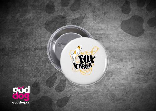 "Placka s potiskem foxteriéra ""Foxterrier"""