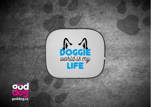 """Autostínítko s potiskem psa """"Doggie Life"""""""