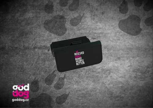 """Dámská peněženka s potiskem psa """"Rescued"""", velká"""