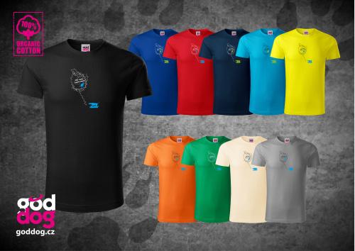 """Pánské triko s potiskem výmarského ohaře """"Find me"""", org.bavlna"""