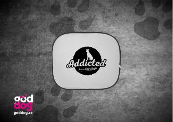 """Autostínítko s potiskem pinče """"Addicted"""""""
