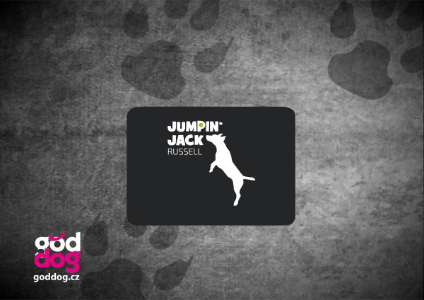"""Podložka pod myš s potiskem jack russell teriéra """"Jumping Jack"""""""