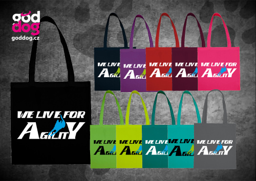 """Nákupní plátěná taška s potiskem agilit """"We live"""""""