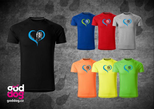 """Pánské funkční triko s potiskem jorkšírského teriéra """"Yorkshire Heart"""""""