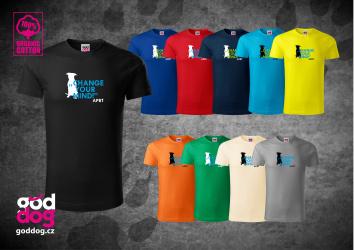 """Pánské triko s potiskem pitbulla """"Change your mind"""", org.bavlna"""