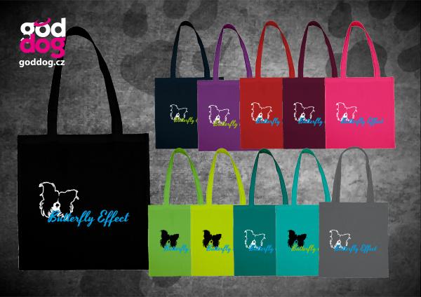 """Nákupní plátěná taška s potiskem papillona """"Butterfly Effect"""""""