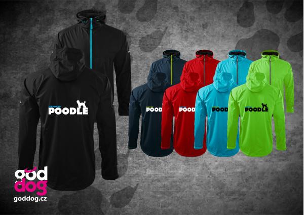 """Pánská soft.bunda s potiskem pudla """"Standard Poodle"""", kontrast.zip"""