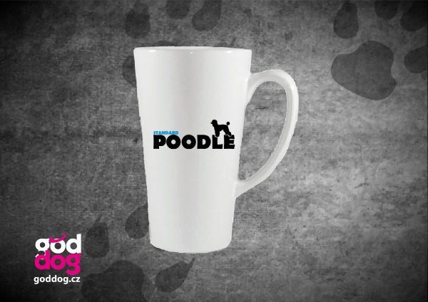 "Latté s potiskem pudla ""Standard Poodle"""