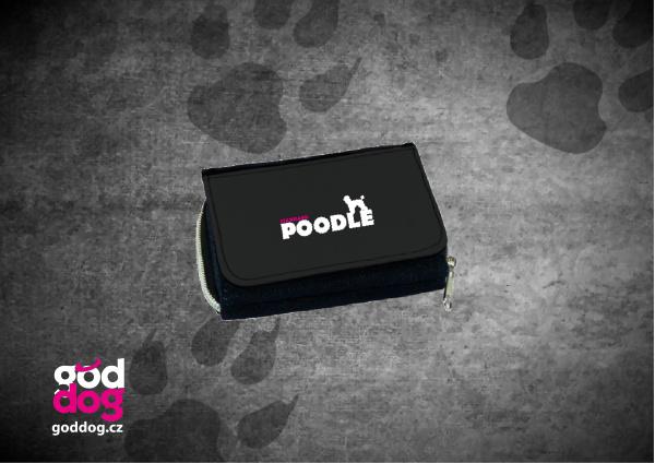 """Dámská peněženka s potiskem pudla """"Standard Poodle"""", džinová"""
