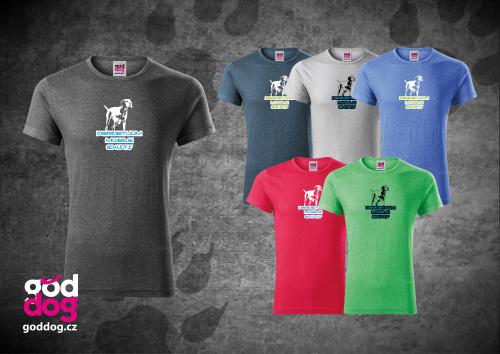 "Pánské triko s potiskem maďarského ohaře ""Perpetuum Mobile"", melír"