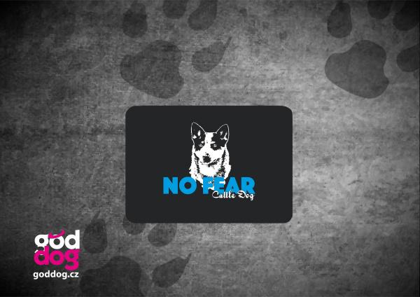 """Podložka pod myš s potiskem australského honáckého psa """"No Fear"""""""