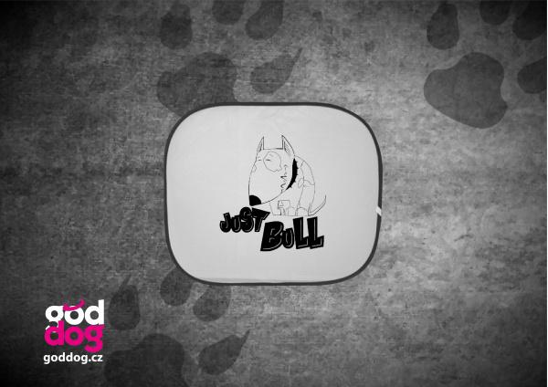 """Autostínítko s potiskem bulteriéra """"Just Bull"""""""