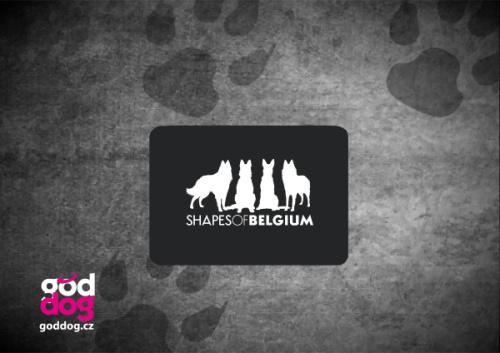 """Podložka pod myš s potiskem belgického ovčáka """"Shapes of Belgium"""""""