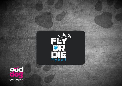 """Podložka pod myš s potiskem flyballu """"Fly or die"""""""