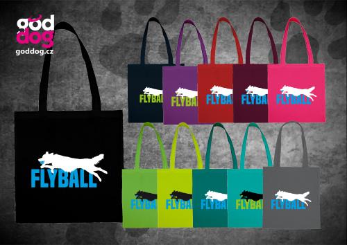 """Nákupní plátěná taška s potiskem flyballu """"Flyball"""""""