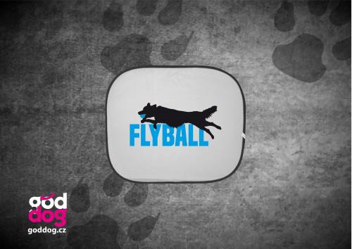 """Autostínítko s potiskem flyballu """"Flyball"""""""