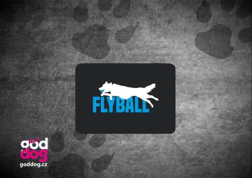 "Podložka pod myš s potiskem flyballu ""Flyball"""