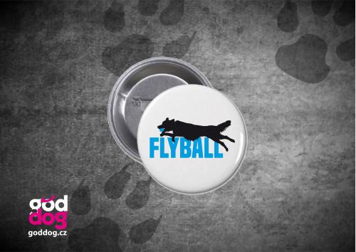 """Placka s potiskem flyballu """"Flyball"""""""