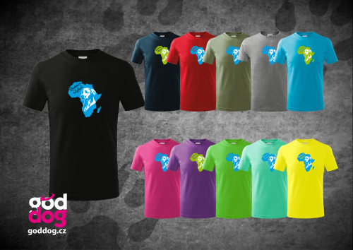 "Dětské triko s potiskem ridgebacka ""Rhodesian Ridgeback"", kr.rukáv"