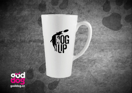 """Latté s potiskem dogfrisbee """"Dog Up"""""""