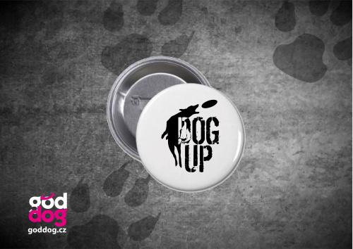 """Placka s potiskem dogfrisbee """"Dog Up"""""""