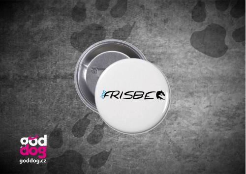 "Placka s potiskem dogfrisbee ""Dogfrisbee"""