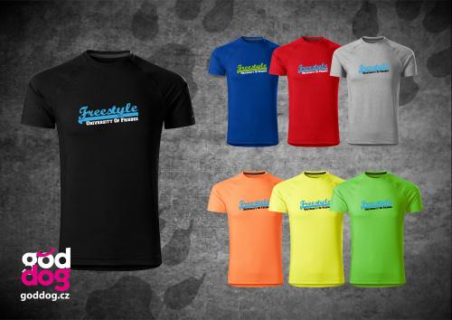 """Pánské funkční triko s potiskem dogfrisbee """"Freestyle"""""""