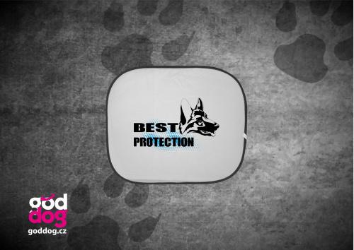 """Autostínítko s potiskem německého ovčáka """"Best Protection"""""""