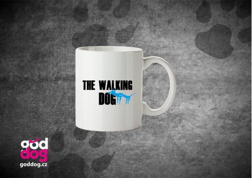 "Keramický hrnek s potiskem psa ""The Walking Dog"""