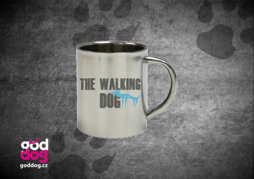 """Nerezový hrnek s potiskem psa """"The Walking Dog"""""""