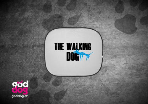 """Autostínítko s potiskem psa """"The Walking Dog"""""""