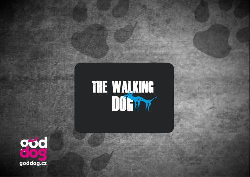 """Podložka pod myš s potiskem psa """"The Walking Dog"""""""