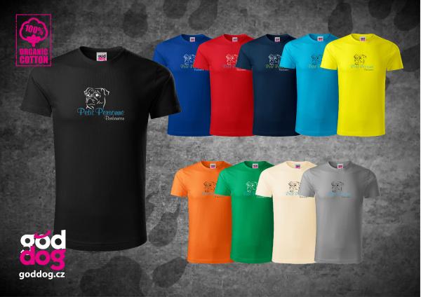 "Pánské triko s potiskem brabantíka ""Petit Personne"", org.bavlna"