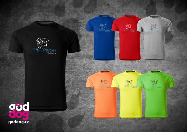 """Pánské funkční triko s potiskem brabantíka """"Petit Personne"""""""