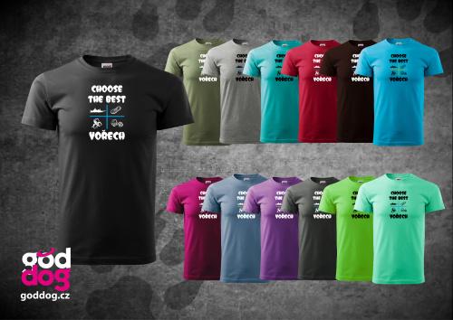 """Pánské triko s potiskem psa """"Choose the Best"""", kr.rukáv"""