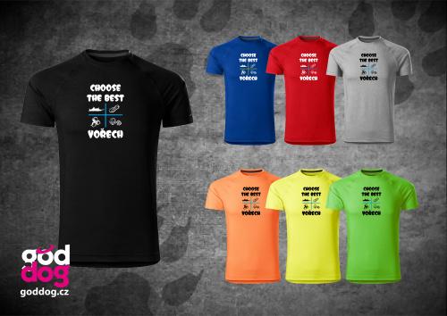 """Pánské funkční triko s potiskem psa """"Choose the Best"""""""