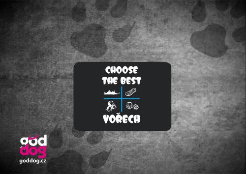 """Podložka pod myš s potiskem psa """"Choose the Best"""""""