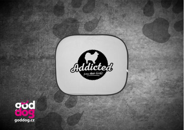 """Autostínítko s potiskem špice """"Addicted"""""""