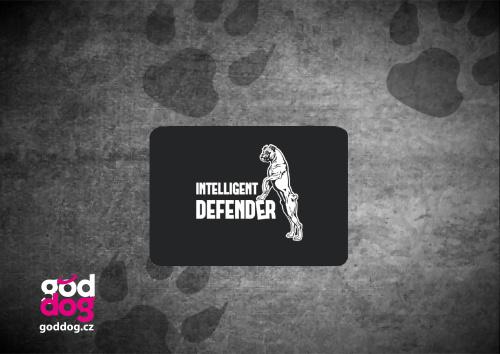 """Podložka pod myš s potiskem německého boxera """"Intelligent Defender"""""""